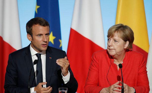 Macron ja Merkel tapaavat torstaina. Arkistokuva.