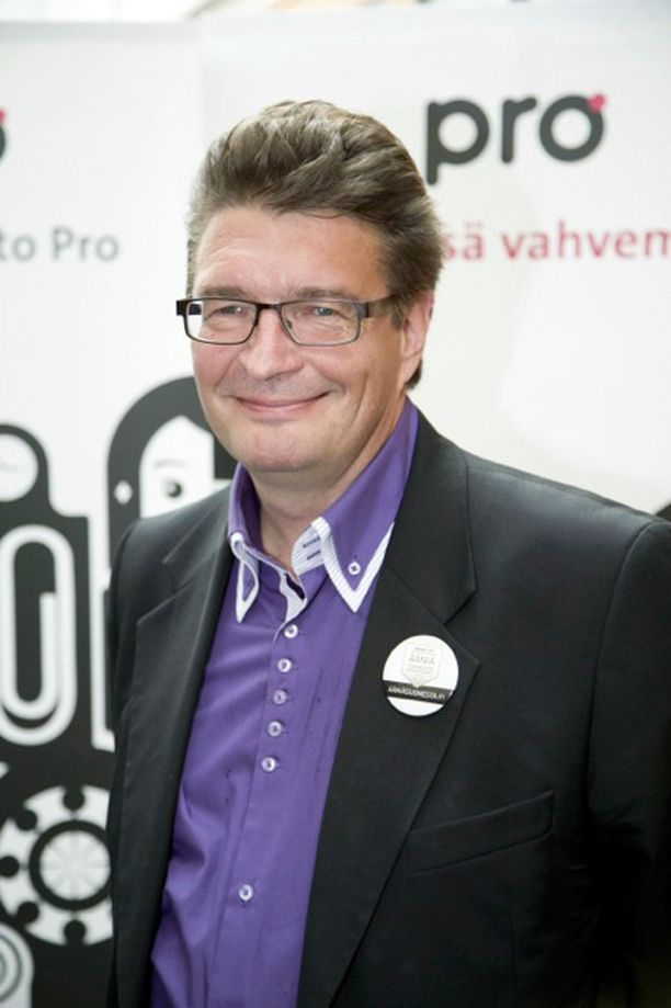 Ammattiliitto Pron puheenjohtaja Jorma Malinen.