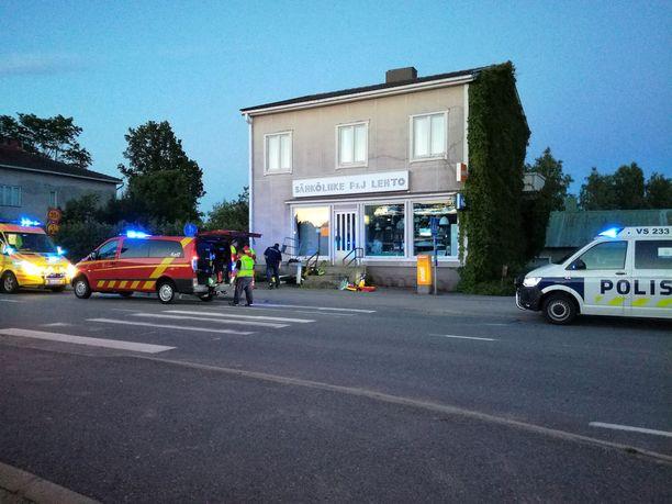 Onnettomuus tapahtui lauantai-iltana Koski Tl:n keskustassa.