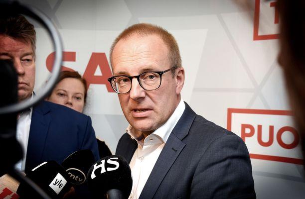 """SAK:n puheenjohtaja Jarkko Eloranta kritisoi """"aktiivimalli kakkosta"""" mutta näkee siinä myös hyvää. Arkistokuva lokakuulta 2018."""