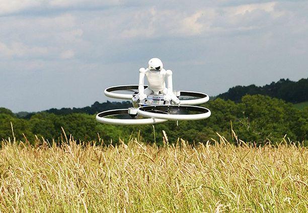 Nelipropellinen minihelikopteri saataneen ennen pitkää ihmistenkin käyttöön.