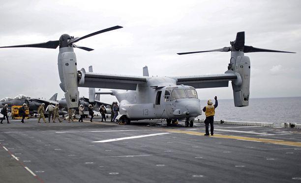 Osprey on kuljetushelikoptereita kaksi kertaa nopeampi.