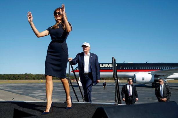 Melania Trump tuuletti miehensä rinnalla vaalikampanjan loppumetreillä.