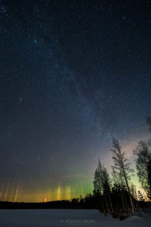 Atacan Erginin mukaan Lapinpahdella pimeässä paikassa revontulet näkyivät paljain silmin helposti.
