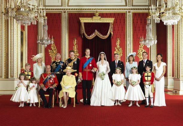 Williamin ja Catherinen kuvassa istui ainoastaan kuningatar Elisabeth ja prinssi Philip