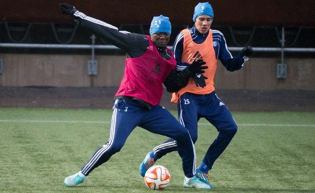 Gideon Baah on HJK:n tykki Eurooppa-liigassa.