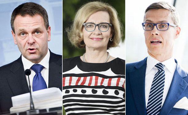 Jan Vapaavuori, Paula Risikko ja Alexander Stubb osallistuvat tänään paneelikeskusteluun.