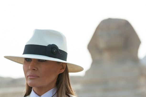 Melania Trump vieraili Afrikan matkallaan myös Egyptissä.