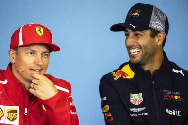 Kimi Räikkösen ja Daniel Ricciardon kuuden vuoden takainen kohtaaminen jäi australialaisen mieleen.