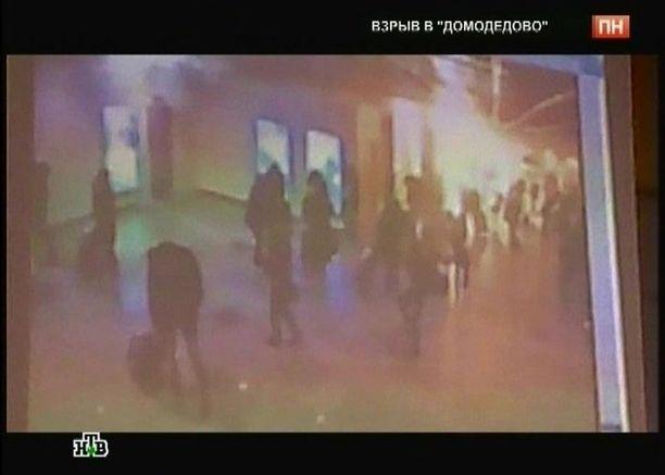 Venäläinen NTV-tv näytti videokuvaa räjähdyksestä.