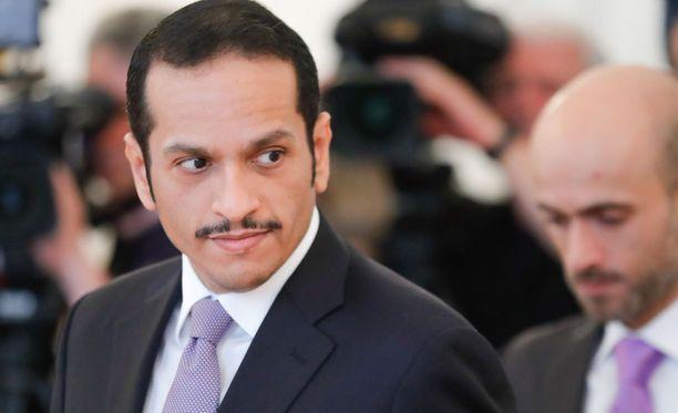 Qatarin ulkoministeri Mohammed bin Abdulrahman Al Thani.