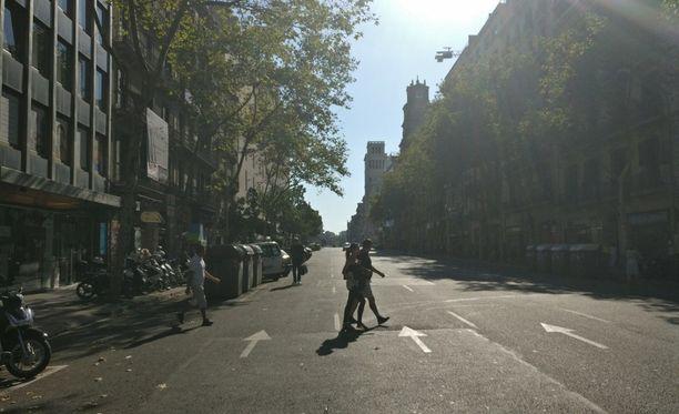 Iltalehden lukija lähetti kuvan paikan päältä Barcelonasta.