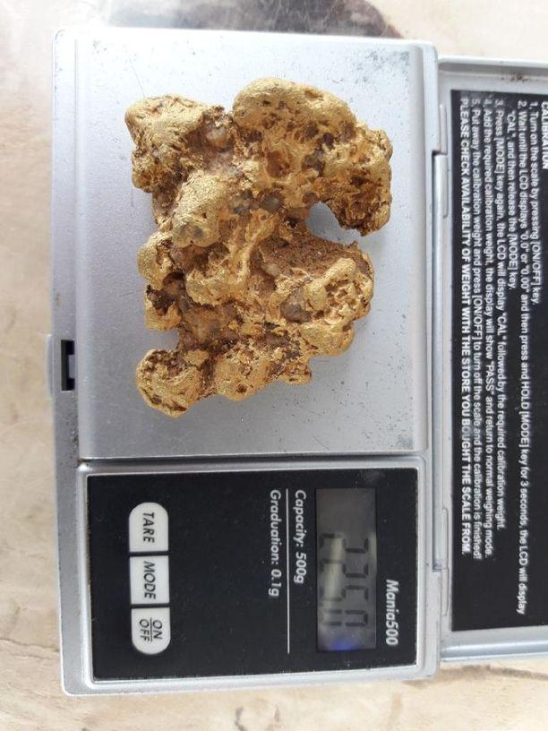 Löytyneellä hipulla on painoa peräti 225 grammaa.