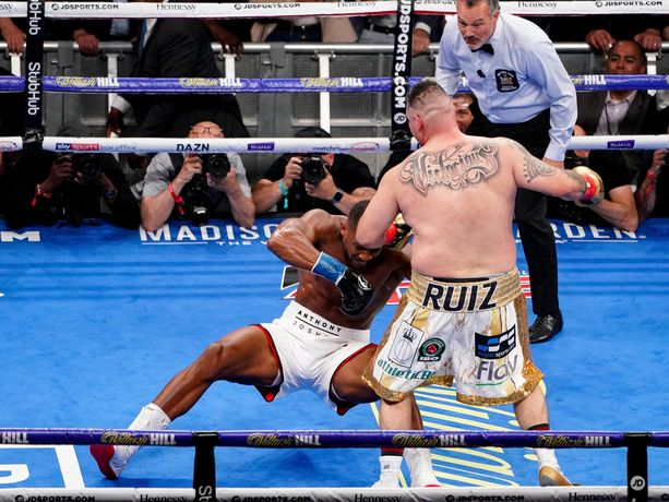 Andy Ruiz jr. teki jättiyllätyksen ja iski Anthony Joshuan kanveesiin maailmanmestaruusottelussa.