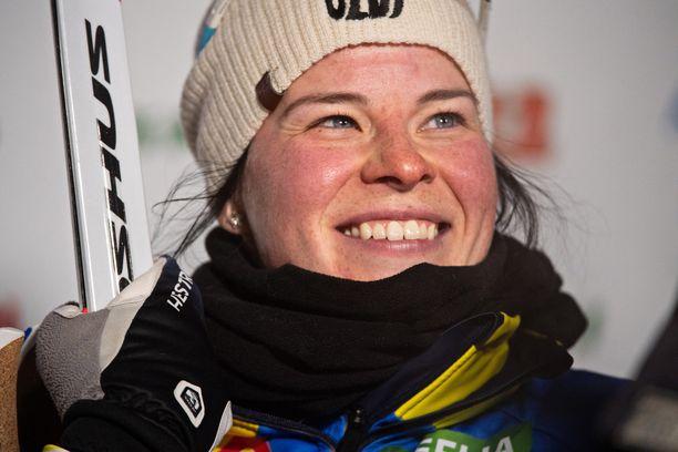 Krista Pärmäkoski on kakkosena hiihdon maailmancupissa.