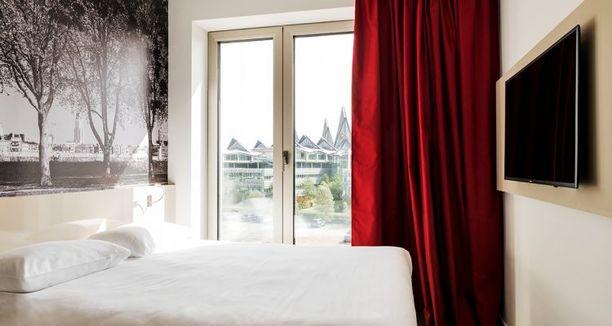 Tältä näyttää Antwerpenissä sijaitsevassa B&B Hotelissa.