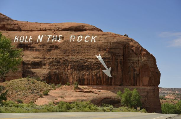 Kallioon kaiverrettua erikoisuutta ei voi olla huomaamatta.
