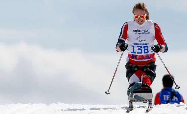 Birgit Skarstein edusti Norjaa jo neljä vuotta sitten Sotshin paralympialaisissa.