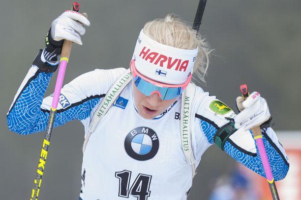 Kaisa Mäkäräinen epäonnistui Slovenian maailmancupissa perjantaina.