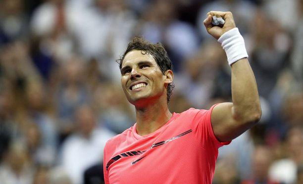 Rafael Nadal esitti vakuuttavia otteita US Openin puolivälierissä.