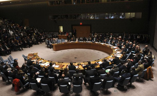 YK:n turvallisuusneuvosto. Kuvituskuva