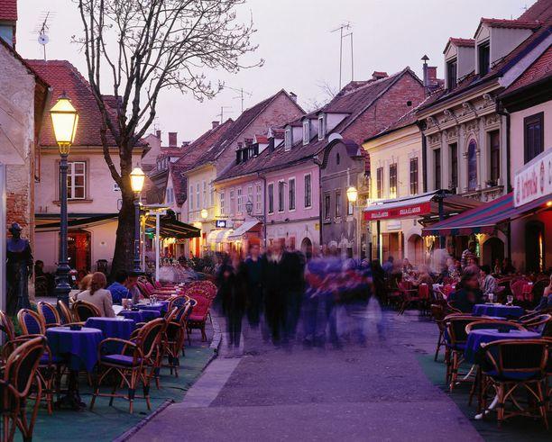 Zagrebista löytyy paljon tunnelmallisia ravintoloita ja kahviloita.