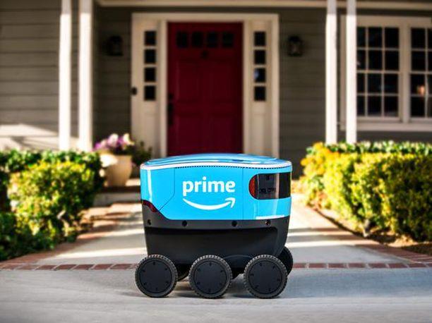 Tältä näyttää kuusipyöräinen jakelurobotti Amazon Scout.