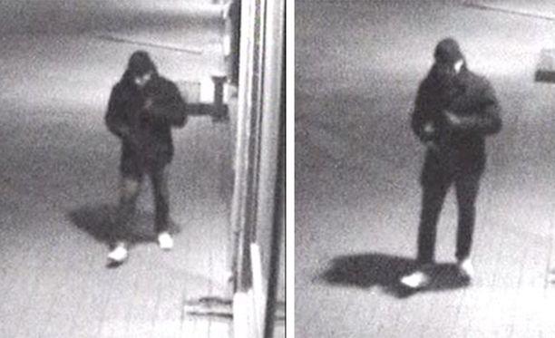 Poliisi julkaisi valvontakameran kuvat epäillystä.