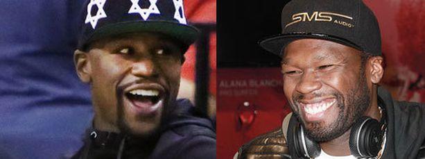 50 Centilla (oikealla) on luottoa Floyd Mayweatherin voittoon.