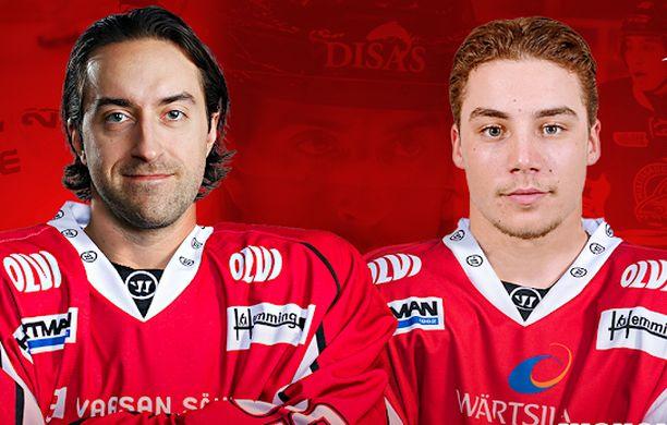 Shaun Heshka ja Nicholas Canade ovat jatkossa Sportin miehiä.