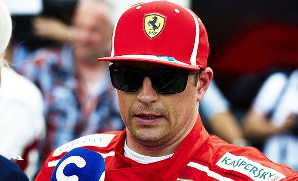 Kimi Räikkönen pettyi Ranskan GP:n aika-ajossa.