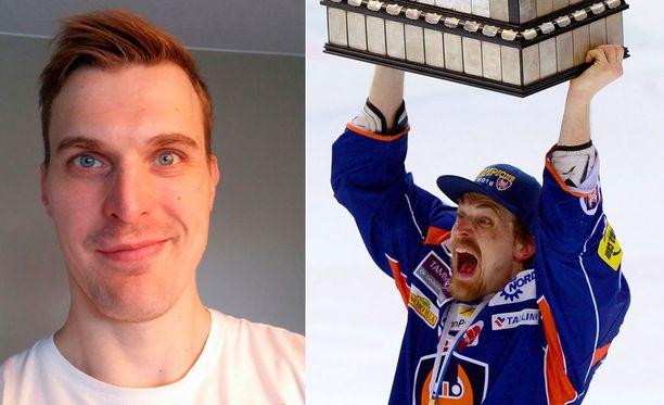 Pekka Saravon Movember- ja playoff-lookeissa on melkoinen kontrasti. Nyt Saravon ylähuulen päällä on jo komeat pensselit.