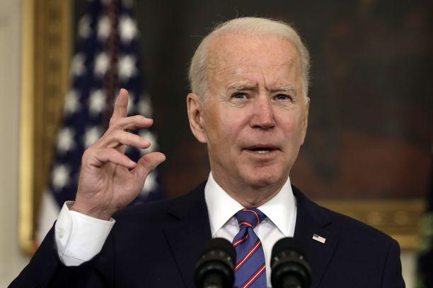 Yhdysvaltain presidentti Joe Biden ilmoittaa Yhdysvaltain tukevan Ukrainaa Venäjän aggressioita vastaan.