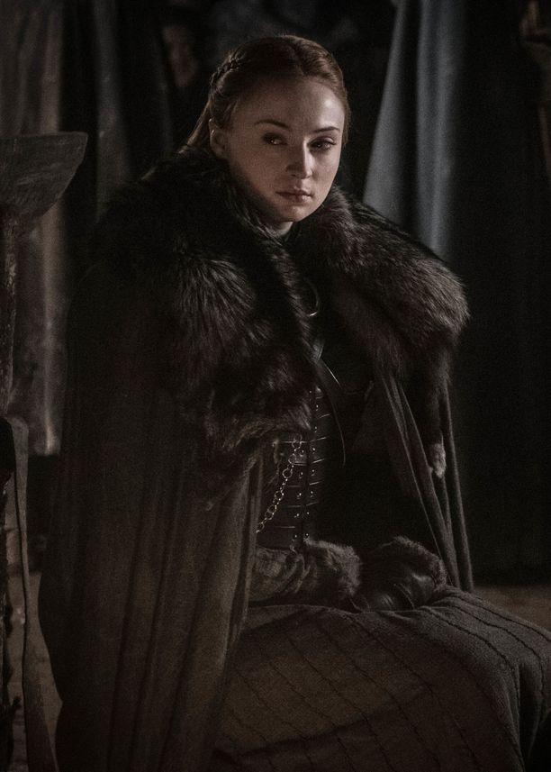 Sansa Stark kahdeksannella tuotantokaudella.