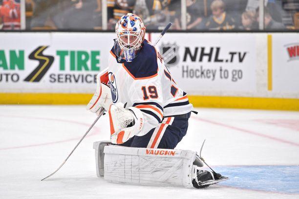 Mikko Koskinen torjui voiton Edmonton Oilersille.