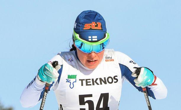 Krista Pärmäkoski oli seitsemäs Holmenkollenin 30 kilometrin kisassa.