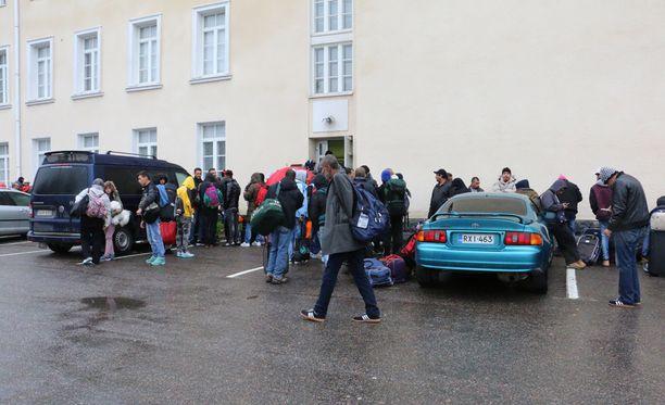 Aloite vapaaehtoistyöhön tuli turvapaikanhakijoilta itseltään. Kuva Tornion järjestelykeskukselta.