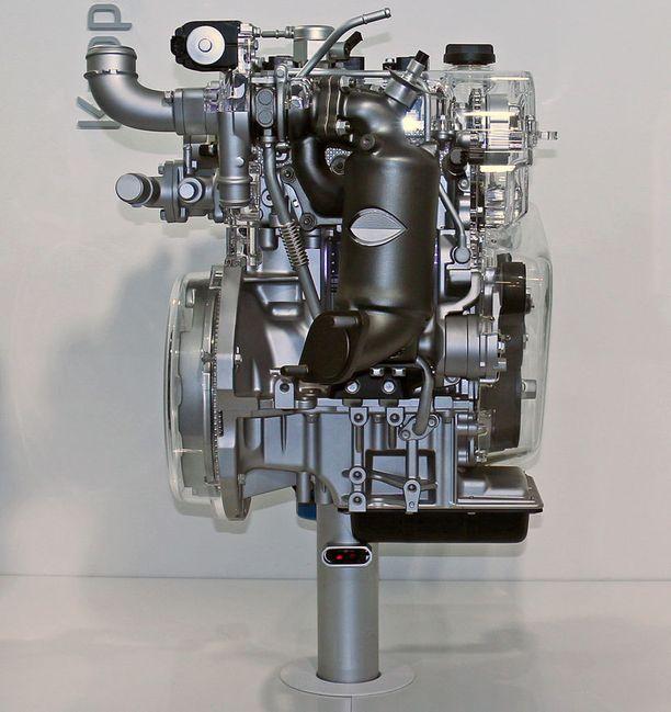 Tältä moottori näyttää.