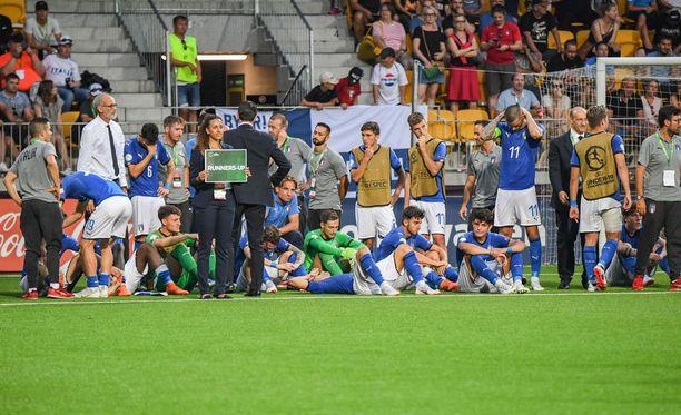Italialaisten nousut eivät riittäneet EM-kultaan.