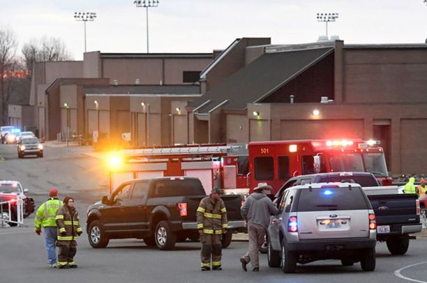 Kuva Kentuckyn kouluammuskelun tapahtumapaikalta tiistailta.