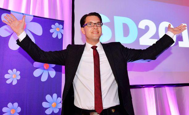 Ruotsidemokraatit saivat liki 13 prosenttia äänistä.