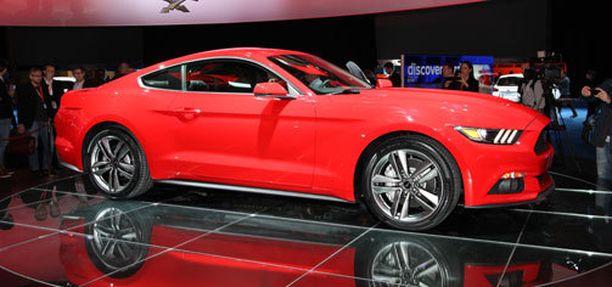 Uusi Mustang on säilynyt noin 4,8-metrisenä.
