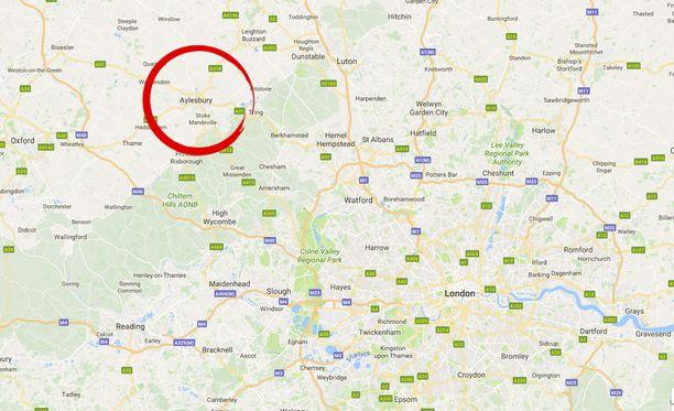 Aylesbury sijaitsee Buckinghamshiressä Lontoon luoteispuolella.