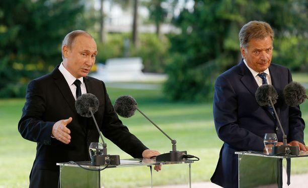 Vladimir Putin ja Sauli Niinistö keskustelevat tällä viikolla Venäjällä.