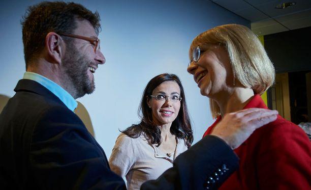 Susanne päivärinta tenttasi A-studiossa SDP:n puheenjohtajaehdokkaita tammikuussa.