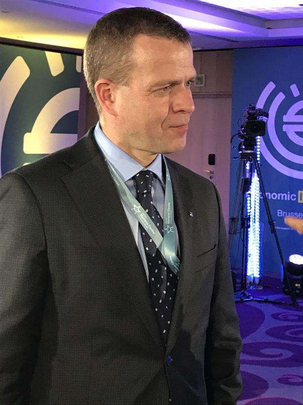 Valtiovarainministeri Petteri Orpo (kok) osallistui tiistaina Brysselissä Martens Centren talousfoorumiin.