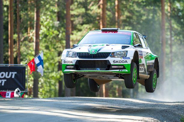 Kalle Rovanperä vauhdissa viime vuonna Ruuhimäen erikoiskokeella.