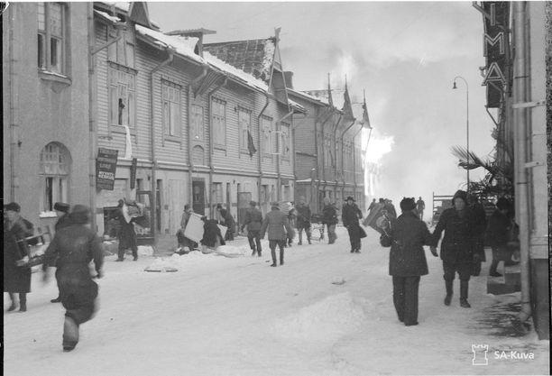 Ilmapommituksen tuhoja Tampereella 15.1.1940.
