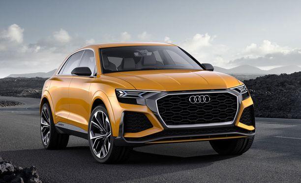 Audi Q8:n konseptimalli nähtiin tämän vuoden Geneven autonäyttelyssä.