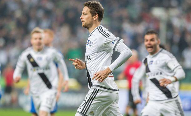 Legian Kasper Hämäläinen pääsi Mestarien liigan ensi-illassaan maalipaikkaan, mutta syöttö jäi tulematta.